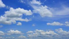 Blue cloudy sky timelapse in 4K Stock Footage