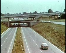 1950s Australian Freeway/Highway Stock Footage