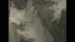 Vintage 16mm film, 1938, Columbia, waterfalls unknown location Stock Footage