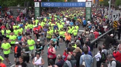 2015 The Tamarack Ottawa Race Weekend marathon race Stock Footage