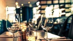 Restaurant table set 4K Stock Footage