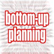 Bottom-up planning Stock Illustration