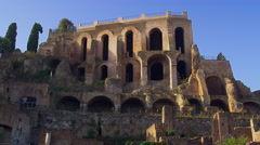 Inside the Forum in Rome, Italy 4K Stock Video Footage Stock Footage