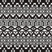 Seamless pattern with aztec ornaments Stock Illustration