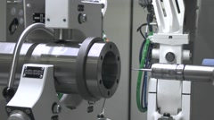 Machine tool for processing metal Stock Footage