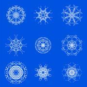 Stock Illustration of White Snow Flakes