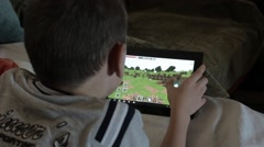 Video game with tablet PC. Stock Footage