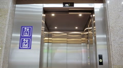 Opened elevator for mothers and physically disabled - stock footage