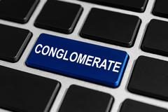 business conglomerate button on keyboard - stock photo