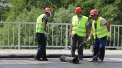 Collection of highway workers waterproof bridge Stock Footage