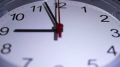 Time lapse Clock At 9 Stock Footage