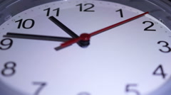Time lapse Clock At 11 Stock Footage