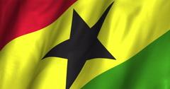 Ghana waving flag 4K Stock Footage