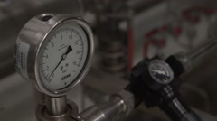 The pressure sensor gauge shows normal system pressure Stock Footage