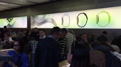Apple store in NYC, USA - stock footage