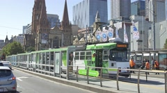 Melbourne Flinders Street station Stock Footage