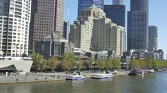 Melbourne Southbank Stock Footage