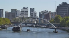 Melbourne Southbank Footbridge Stock Footage