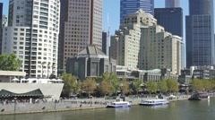 Melbourne Southbank tilt Stock Footage