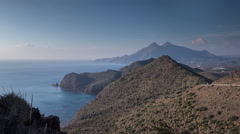 Coastal panoramic timelapse, cabo de gata, spain Stock Footage