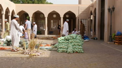 Buyers and vendors at traditionel market in NIZWA,OMAN 4K UHD Stock Footage