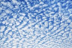 Cloudscape With Altocumulus Clouds Stock Photos