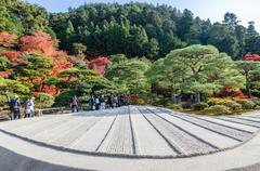 Japanese style garden in autumn - stock photo