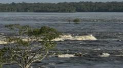 Rio Negro, in the Brazilian Amazon Rainforest Stock Footage