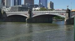 Melbourne Princes bridge Stock Footage