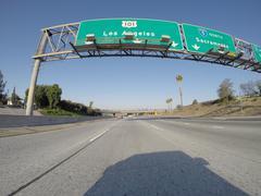Los Angeles 101 Freeway Sign Stock Photos