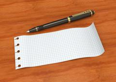 Note paper - stock illustration