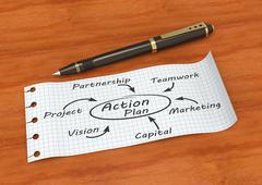 Action plan - stock illustration