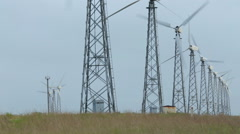 Alternative energy with wind turbine Stock Footage