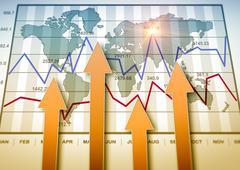 Report charts Stock Illustration