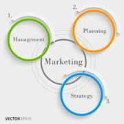 Marketing concept - stock illustration