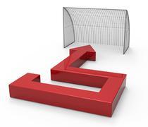 Goal concept - stock illustration