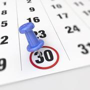 Calendar and pushpin Stock Illustration