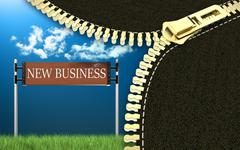 New business - stock illustration