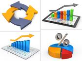 Stock Illustration of Business set icons