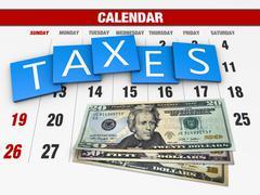 Income tax - stock illustration