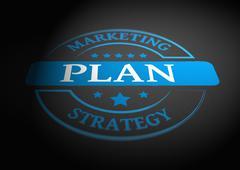 Plan stamp - stock illustration