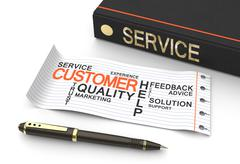 Customer service concep Piirros