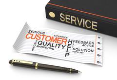 Customer service concep Stock Illustration