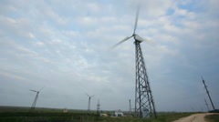 Windmills for clean energy production Stock Footage