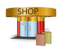 Online store - stock illustration
