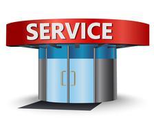 Service center Stock Illustration