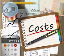 Financial expenses concept - stock illustration