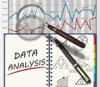 Analysis concept - stock illustration