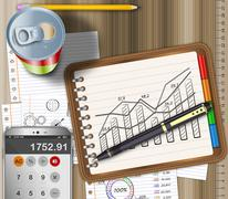 Analysis as a concept - stock illustration