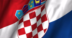 Croatia waving flag 4K Stock Footage